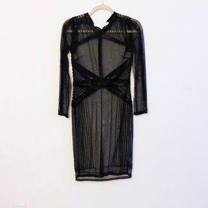 Black Beaded Sheer Dress